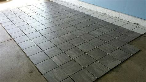 A Porcelain Tile Garage Floor Installation and Review