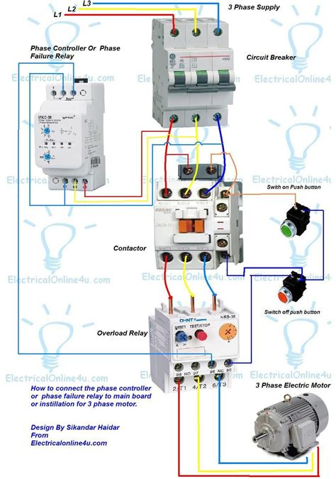 lighting contactor panel wiring diagram images reverse switch a simple circuit diagram of contactor three phase motor