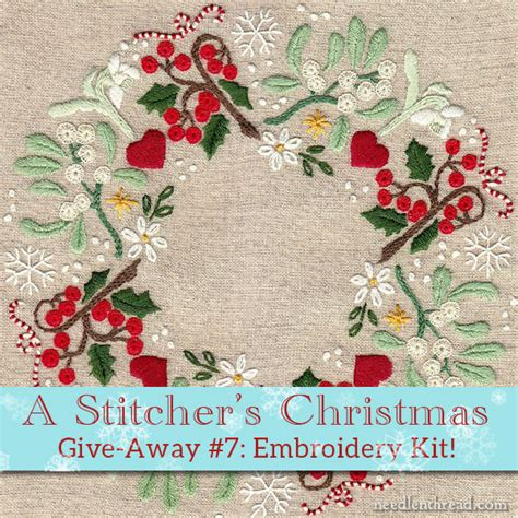 A Stitcher s Christmas 7 Christmas Wreath Embroidery Kit