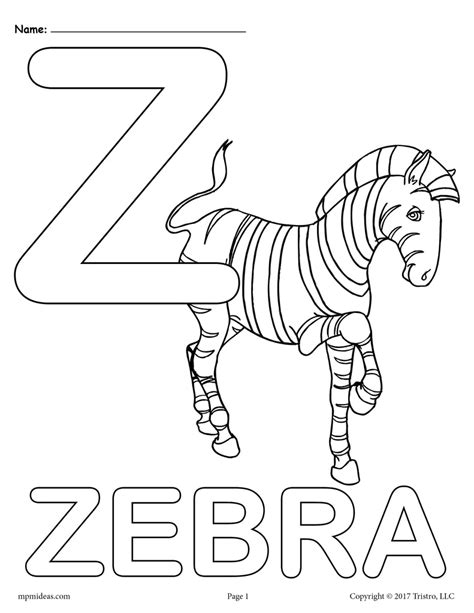 A To Z Coloring Pages Free Printable A To Z Coloring