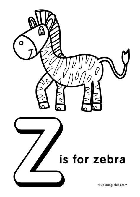 A to Z coloring pages listing Coloring pages for kids