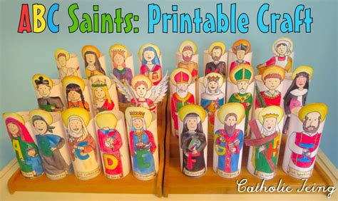 ABC Saints Coloring Pages Turned Easy Catholic Craft