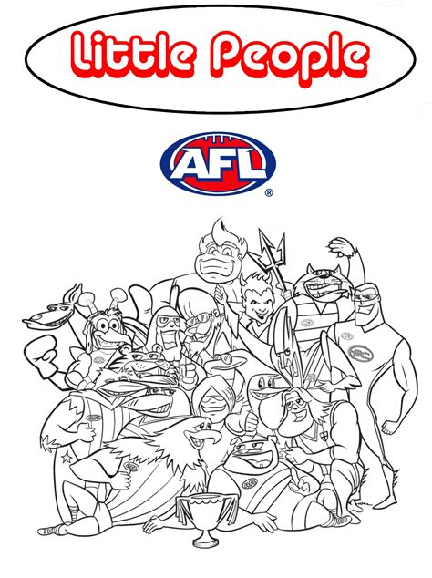 AFL Australian Football League Colouring Pages colour in