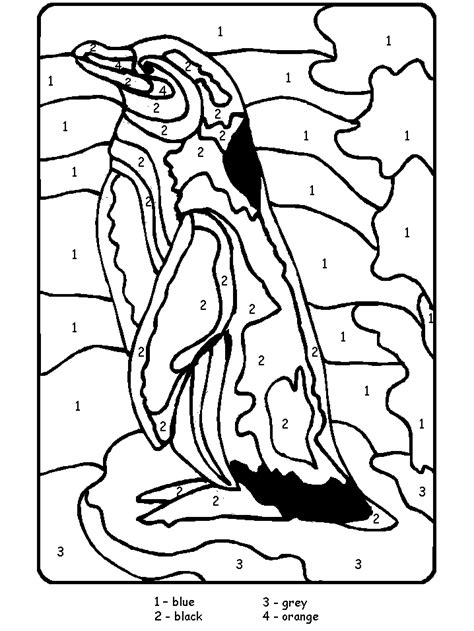 ANIMAL Color by Number coloring pages Coloring pages