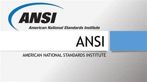 ANSI WebStore American National Standards