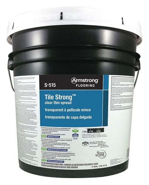 ARMSTRONG Vinyl Composition Tile Adhesive 4 Grainger