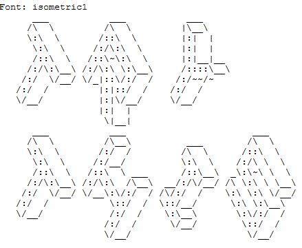 ASCII Generator network science de ascii
