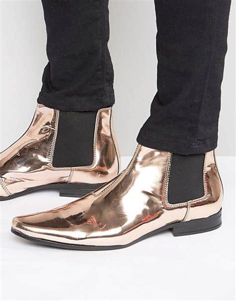 ASOS Chelsea Boots in Metallic Copper Copper Men