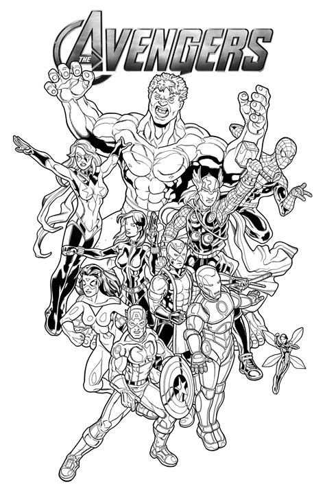 AVENGERS COLORING Pages Free Download Printable