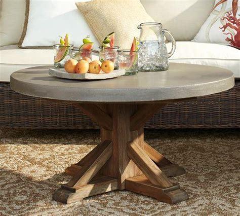 Abbott Round Coffee Table Pottery Barn