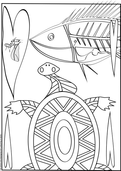 Aboriginal Coloring Pages for Kids