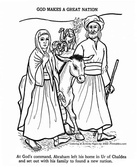 Abram Abraham Coloring Sheets Coloring Pages for Kids