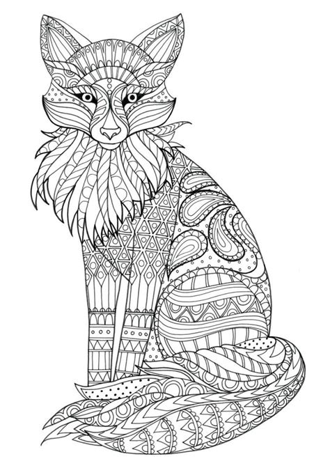 Abstract Fox coloring page Free Printable Coloring Pages