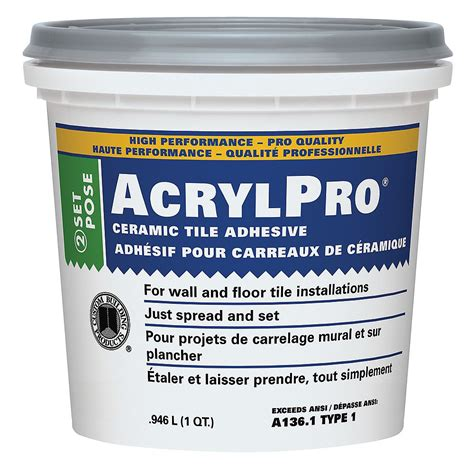 AcrylPro 1 Qt Ceramic Tile Adhesive The Home Depot