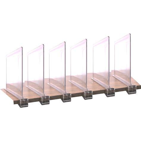 Acrylic Shelf Divider in Shelf Dividers Organize It