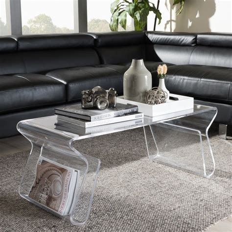 Adair Acrylic Coffee Table at Overstock Coffee and