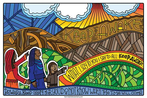 Advent Journey Coloring Posters An Advent Art Project For