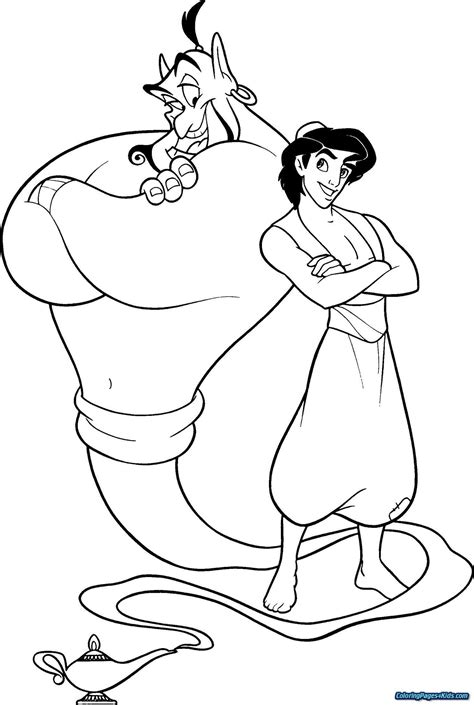 Aladdin coloring pages 49 free Disney printables for