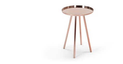 Alana Bedside Table Copper made