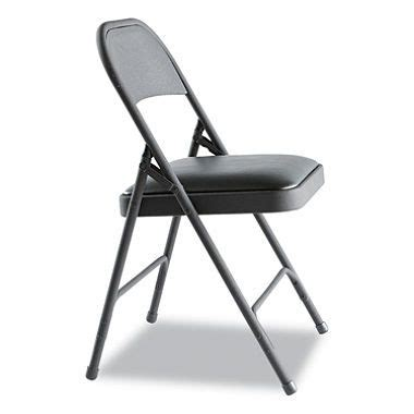 Alera Steel Folding Chair w Padded Seat Graphite 4 pack