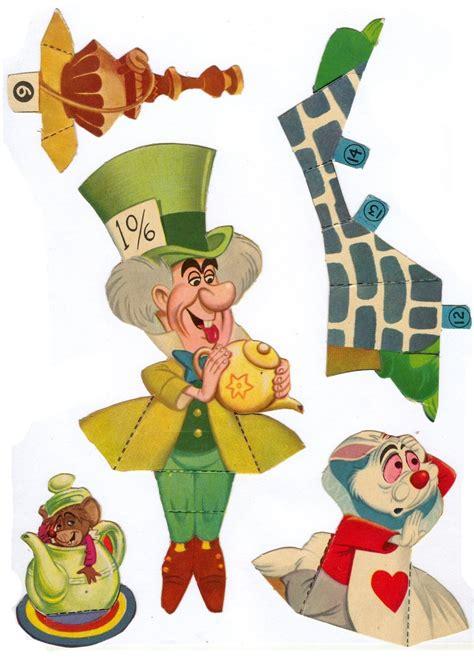 Alice in Wonderland Characters Printable Paper Dolls