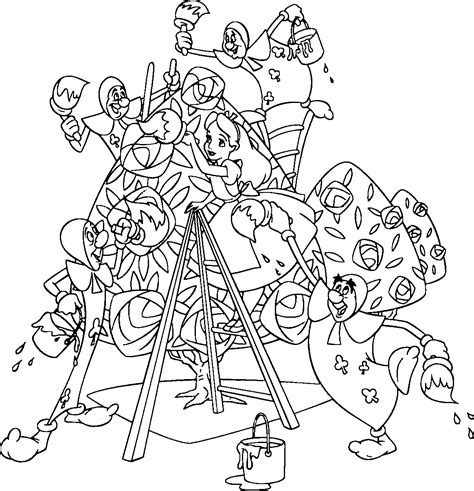 Alice in Wonderland Coloring Pages Amazon