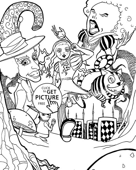 Alice in Wonderland Coloring Pages coloring2print