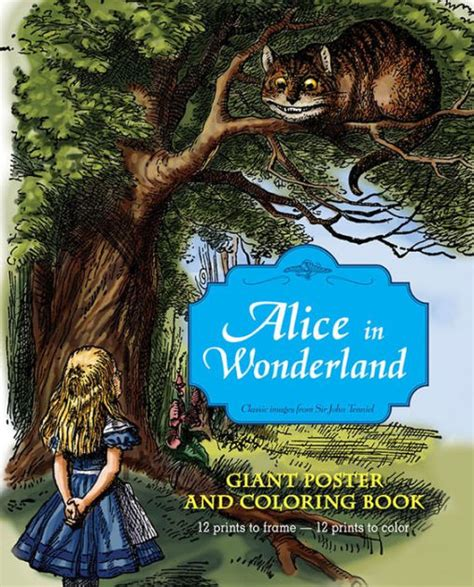 Alice in Wonderland Giant Poster and Coloring Book by John