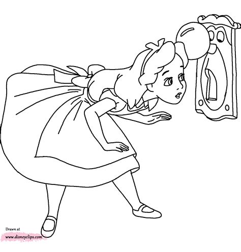 Alice in Wonderland coloring pages 18 free Disney