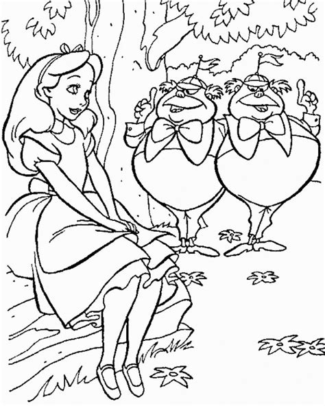 Alice in Wonderland coloring pages Free Coloring Pages