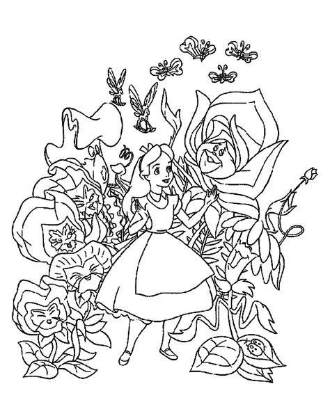 Alice in Wonderland coloring pages Free printable