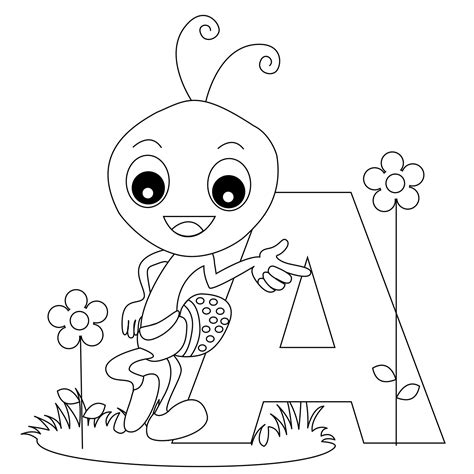 Alphabet Coloring Pages Free Printables
