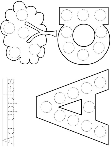 Alphabet Coloring Pages Letter Aa DLTK s Educational