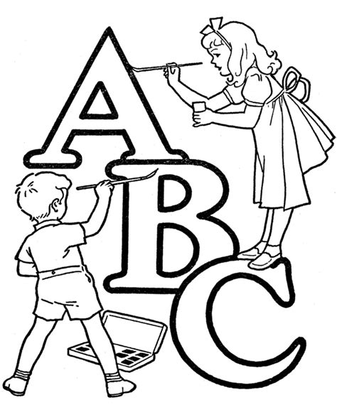 Alphabet Coloring Pages for Kids Free Printable Sheets