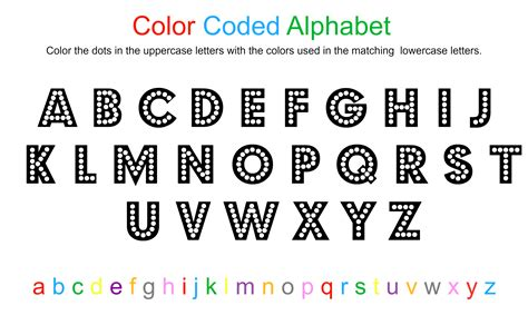 Alphabet Coloring Sheet Free Printable No Time For