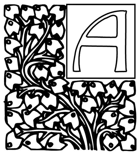 Alphabet Free Coloring Pages crayola