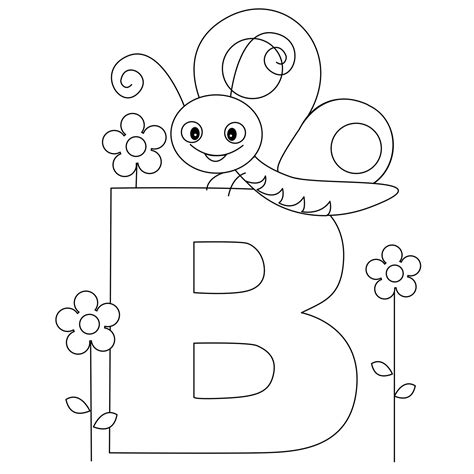 Alphabet Letter B Printable Activities Coloring Pages