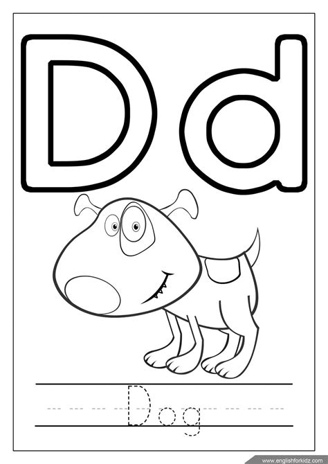 Alphabet Letter D Coloring Page A Free English Coloring