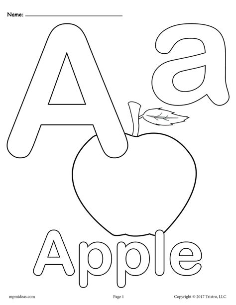 Alphabet Online Coloring Pages Page 1