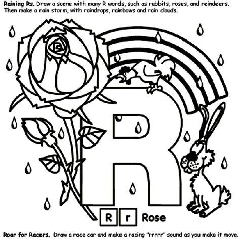 Alphabet R Coloring Page crayola