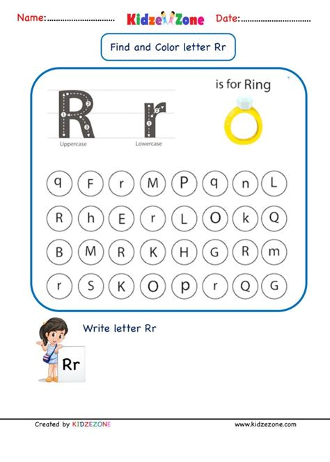 Alphabet Worksheets and Activities Letters I R