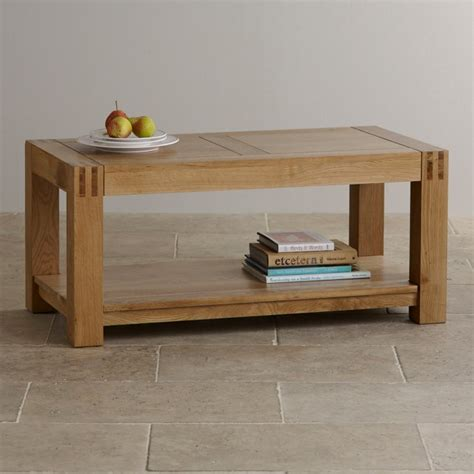 Alto Natural Solid Oak Coffee Table Living Room Furniture