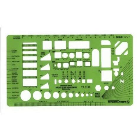 Alvin TD1151 Architects and Builders Drafting Template