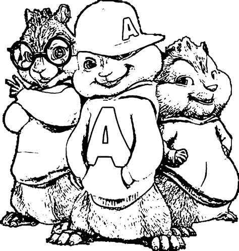 alvin and the chipmunks coloring pages on coloring book info
