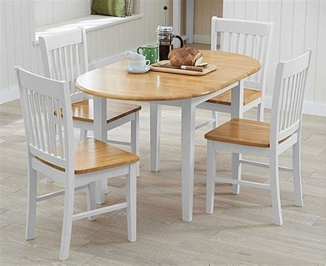 Amalfi Oak and White Extending Dining Table with Chairs