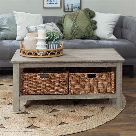 Amazing Storage Tables With Baskets Deals