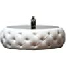 Amazon Abbyson Furrinno Round Leather Coffee Table