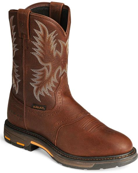 Amazon Ariat Men s Workhog Pull on H2O Work Boot