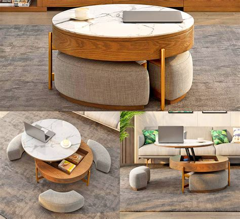 Amazon Coffee Table With Ottomans Underneath
