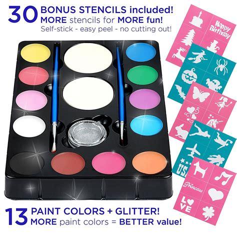 Amazon Face Paint Kit with 30 Stencils 12 Color